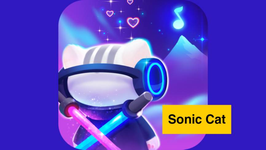 Download Sonic Cat Mod Apk - Slash the Beats (Unlimited Money) free on android
